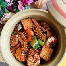 干锅海鲜豆腐的做法大全