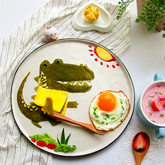 春饼巧做鳄鱼趣味餐