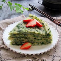 芹菜叶煎饼