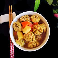咖喱香菇丸子淮山胡萝卜煲