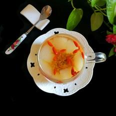 百合雪梨枸杞菊花茶