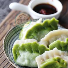 双色饺子白菜饺子
