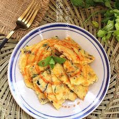 豆腐杂蔬饼