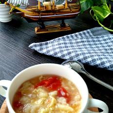 东北西红柿鸡蛋疙瘩汤