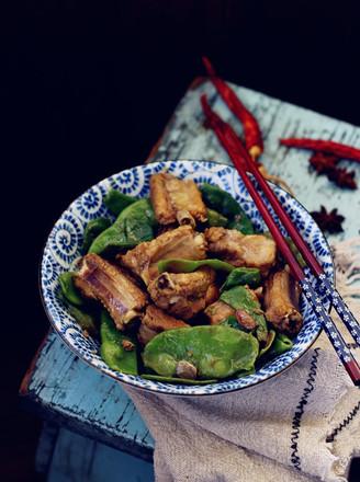 油豆角炖排骨#午餐#的做法
