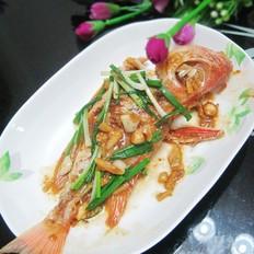 黄豆酱焖大眼鱼