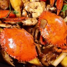 电锅肉蟹煲