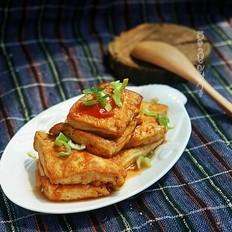 番茄酱煎酸甜豆腐块