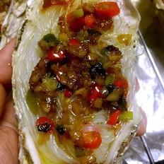 美味蒜蓉烤生蚝