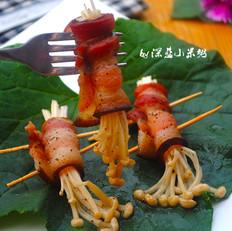 黑椒腊肉金针卷