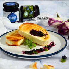 蓝莓烤馒头片#早餐#