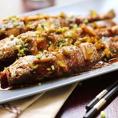 如何烧一条香酥美味的鱼--丁香醋焖黄鱼