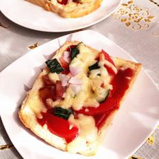 快手早餐——面包披萨