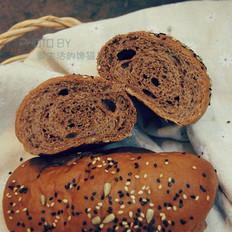 坚果可可面包