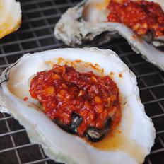 韩式辣椒烤生蚝
