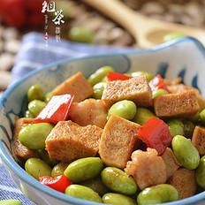 毛豆米炒豆丁