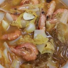 白菜粉条炖虾
