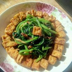 豆腐菠菜一锅出