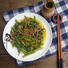 丁香鱼拌空心菜