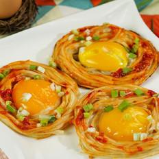 自制鸟巢蛋饼 #早餐#