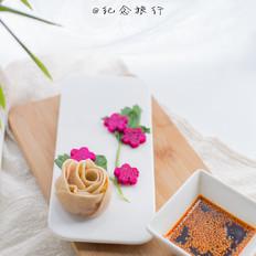 双色玫瑰花饺子
