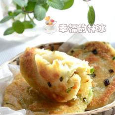 湖北小吃香煎葱花饼
