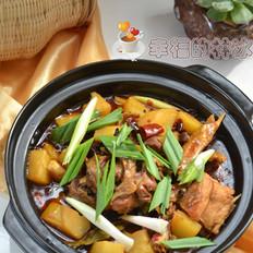 砂锅土豆炖柴鸡