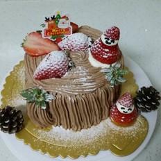 巧克力旋涡树桩蛋糕——第二届乐众烘焙大赛获奖作品