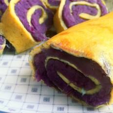 紫薯卷蛋饼