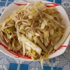 白菜心炒豆腐丝
