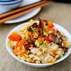 南瓜酱肉焖饭