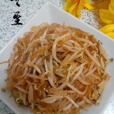 绿豆芽炒水晶粉丝