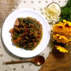 南苏丹美食Combo(花生炖牛肉菠菜)#我是大厨师#