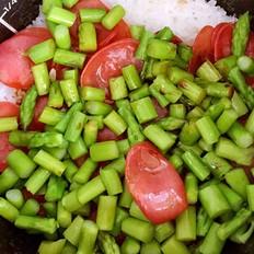 芦笋香肠煲饭