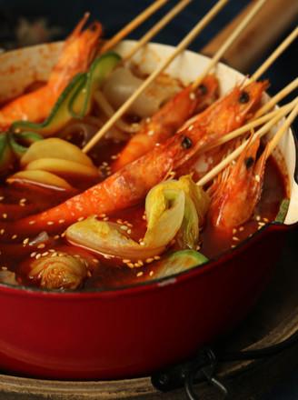 香辣串串虾的做法