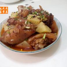 土豆蒸猪蹄---宴客菜