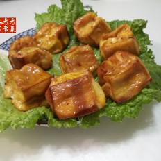 咖喱味豆腐丁---空气炸锅版