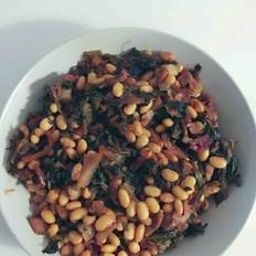 肉炒雪里蕻黄豆