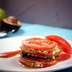 蟹肉番茄千层派