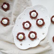 奶油巧克力花朵饼干