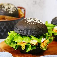 竹炭肉松汉堡