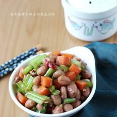 炝拌芹菜花生米
