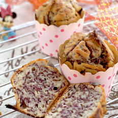 蜂蜜紫薯甜蛋糕#下午茶#