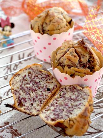 蜂蜜紫薯甜蛋糕#下午茶#的做法