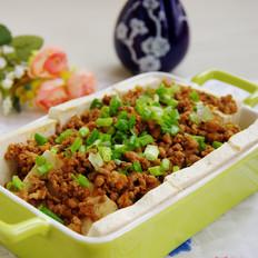 肉末拌卤水豆腐