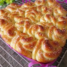 淡奶玫瑰花面包