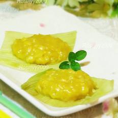 鲜玉米蒸饼
