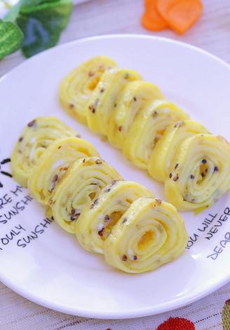 三色藜麦厚蛋烧 宝宝辅食食谱的做法