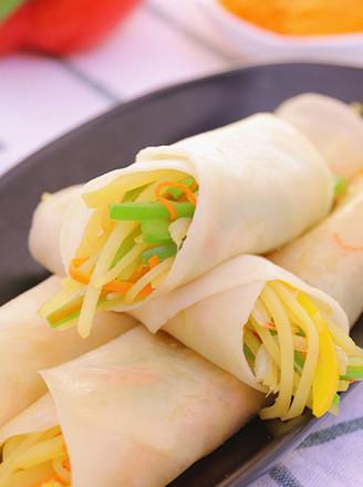 春饼(饺子皮版)宝宝辅食食谱的做法