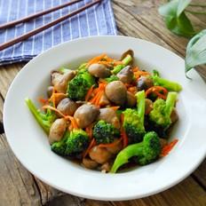 草菇西兰花-防癌健胃增强免疫力